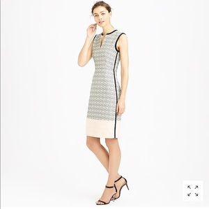 J. Crew Colorblock tweed tux stripe sheath dress